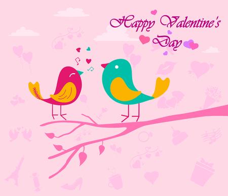 Feliz día de San Valentín del fondo de felicitación del día Vectores