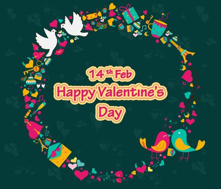 happy valentines day: Happy Valentines Day greeting background