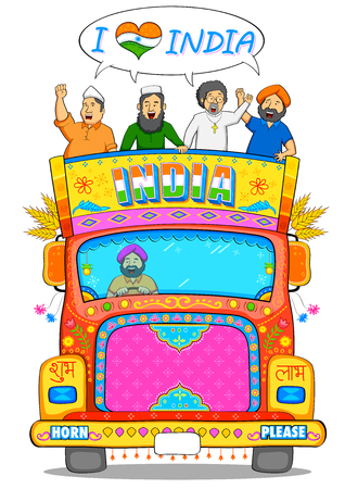 india people: illustration of people of different religion showing Unity in Diversity of India Illustration
