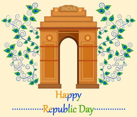 hindustan: Happy Republic Day of India with India Gate