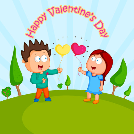 couples in love: Love couple with heart for Valentines day in vector Illustration
