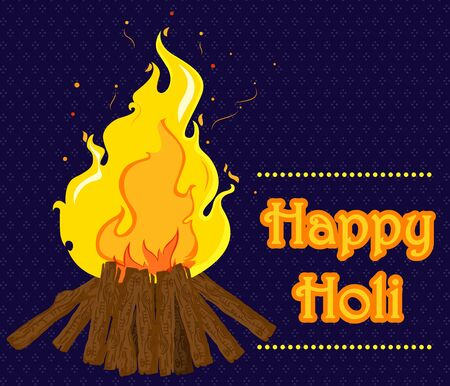 pyre: Traditional Holi background of India in vector