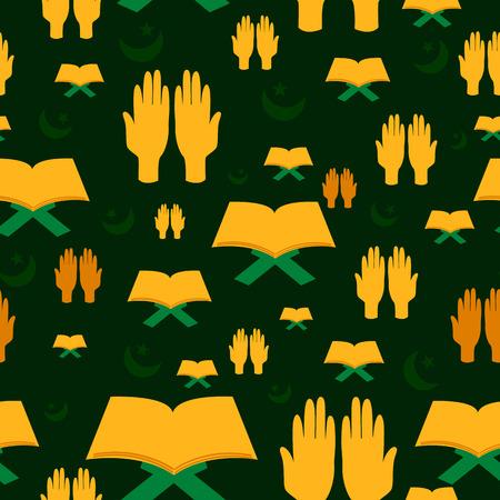 namaz: Ramdan Kareem seamless pattern background in vector Illustration