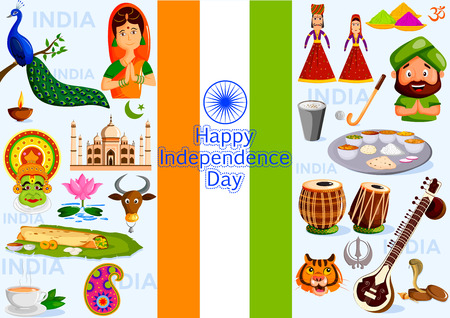 15 august: 15th August, Happy Independence Day of India in vector background