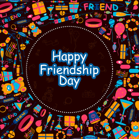 Background for Happy Friendship Day in vector