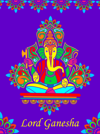 ganpati: Lord Ganpati in vector for Happy Ganesh Chaturthi Illustration