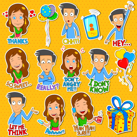 cry icon: Boy and Girl Emoji for different expression and feeling in vector Illustration