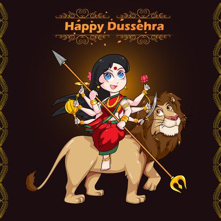Goddess Durga for Happy Dussehra in vector