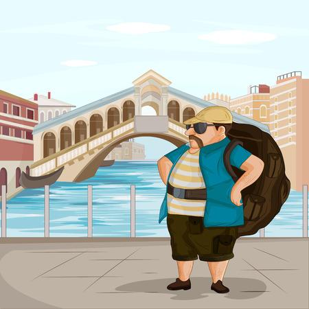 rialto: Tourist travelling near Rialto Bridge in Venice of Italy