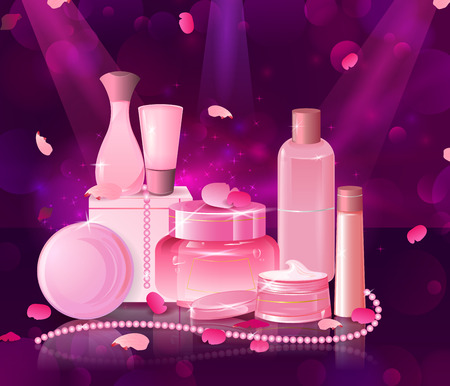 aging: Collection of Premium brand of cosmetic product