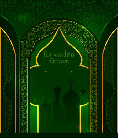 Decoratief Islamitisch Arabisch bloemenontwerp voor de achtergrond van Ramadan Kareem op Happy Eid festival Stock Illustratie
