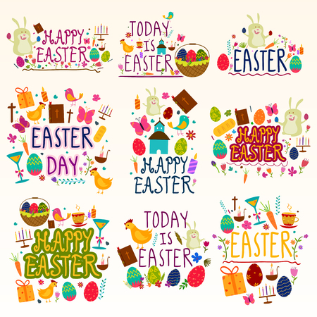 christian festival: Happy Easter Holiday and Festival wishing and greetings