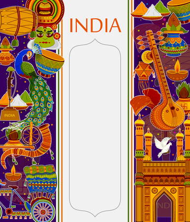 Incredible India background depicting Indian colorful culture and religion Stok Fotoğraf - 81375991