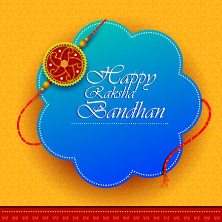 Elegant Rakhi for Brother and Sister bonding in Raksha Bandhan festival from India Vector Illustration