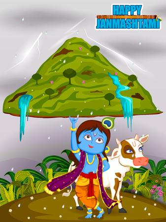 mahabharata: Krishna Janmashtami background Illustration