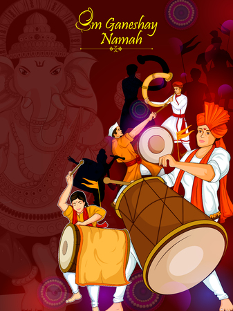 Lord Ganpati for Happy Ganesh Chaturthi festival celebration of India