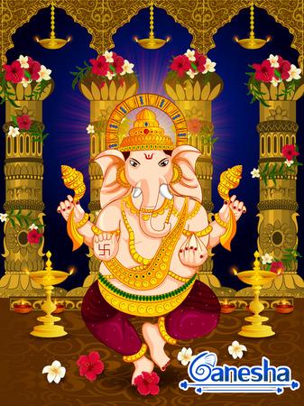 幸せなインドのガネーシュ ・ フェスティバル祭り祭典