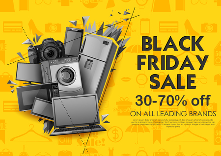 Black Friday Sale shopping Offer and Promotion Background on eve of Merry Christmas