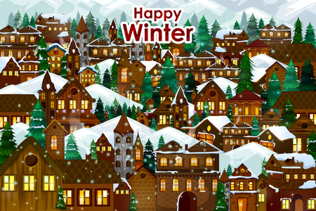 House With Christmas Lights Clipart.10 663 Christmas Village Stock Illustrations Cliparts And