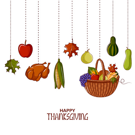Happy Thanksgiving holiday festival background, vector illustration.