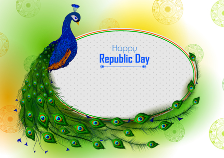 Sale Promotion Advertisement banner for India tricolor Republic or Independence Day Illusztráció