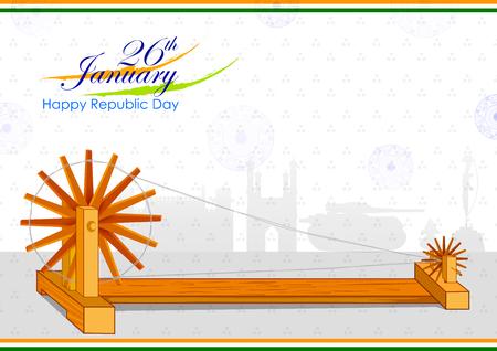26 gennaio, Happy Republic Day of India banner design di sfondo