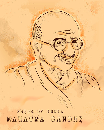 illustration of Vintage India background with Nation Hero and Freedom Fighter Mahatma Gandhi for Independence Day or Gandhi Jayanti