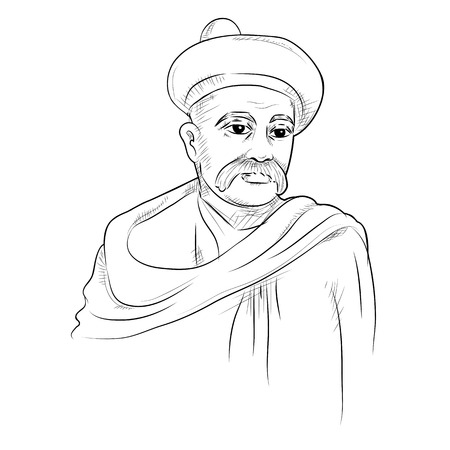 illustration of  Indian background with Nation Hero and Freedom Fighter Bal Gangadhar Tilak Pride of India