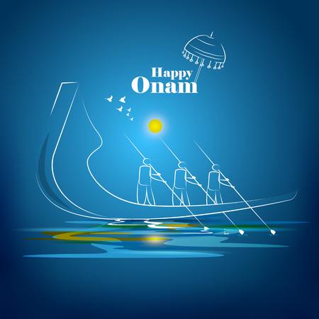 Felices vacaciones en Onam para el fondo del festival del sur de la India
