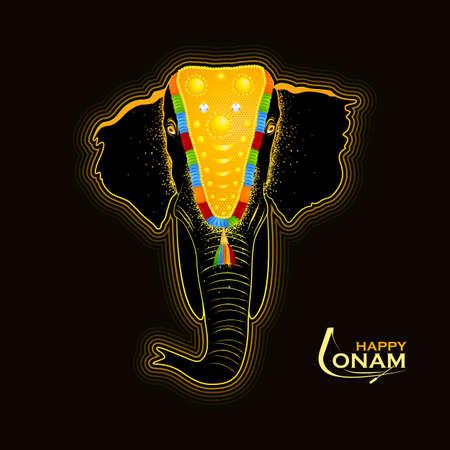Elefante decorado para Happy Onam