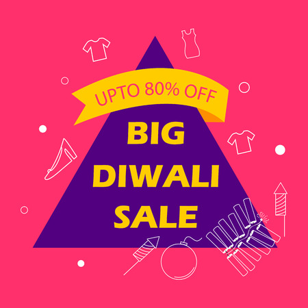 Advertisement template for shopping Sale Promotion Offer for Happy Diwali Festival of India