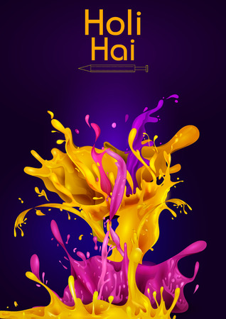 Colorful Traditional Holi splash background for festival of colors of India