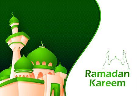 Eid Mubarak Happy Eid Ramadan background in vector