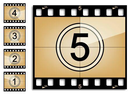 countdown: Film strip countdown