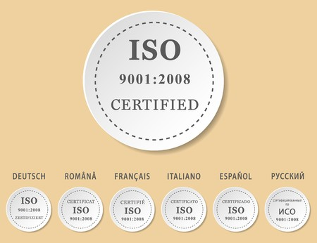 iso: Iso 9001:2008 badges