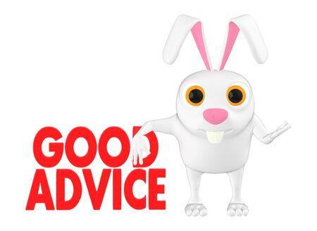3d character , rabbit - good advice - 3d rendering