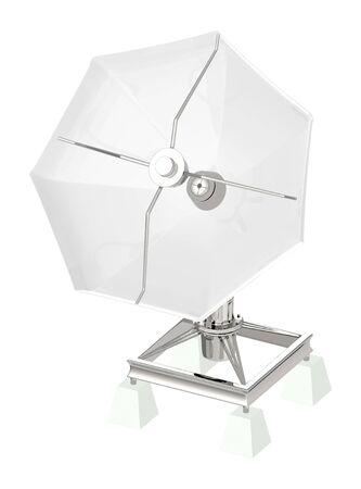 3d dish antenna - 3d rendering