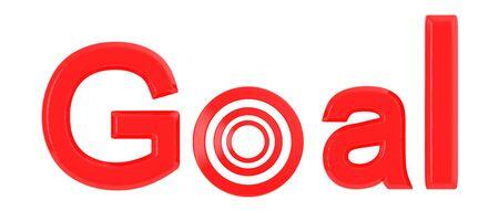 3d goal text - 3d rendering Фото со стока