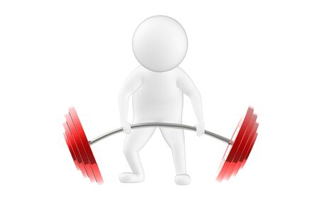 3d character , man is about to lift weights- 3d rendering Stock fotó