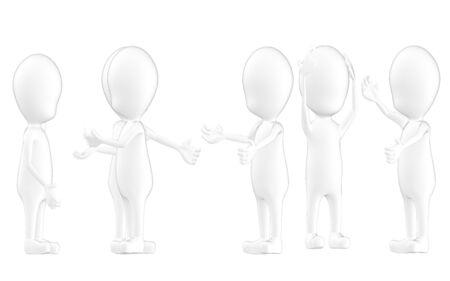 3d character , man crowd discussion ,talk- 3d rendering Zdjęcie Seryjne