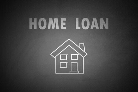 property management: Home Loan concept drawn on blackboard Home Loan