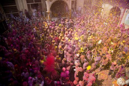 Holi celebration at Vrindavan