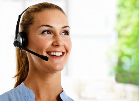 Portrait of a friendly customer representative at work Stock Photo - 11101631