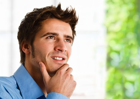 confident man: Portrait of an confident young man