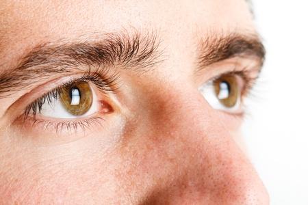 human skin texture: Macro shot of man Stock Photo