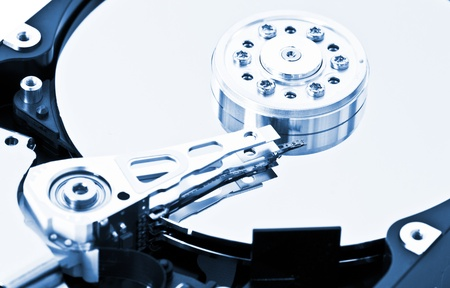 ftp servers: Close-up of an hard disk drive