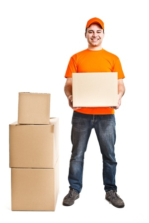 Portrait of an handsome deliverer Stock Photo - 13945367