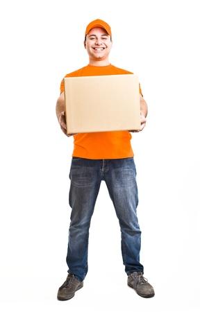 Portrait of an handsome deliverer Stock Photo - 13945125