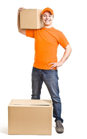 Portrait of an handsome deliverer Stock Photo - 13945326
