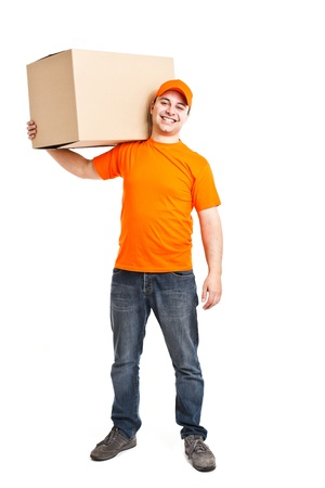 Portrait of an handsome deliverer Stock Photo - 13945169